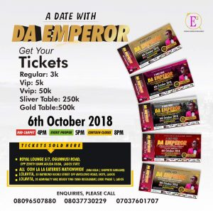 Date with Da Emperor Tickets